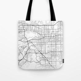 Minimal City Maps - Map Of Pomona, California, United States Tote Bag