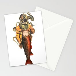 Salmon diver  Stationery Cards