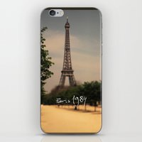 1984 iPhone & iPod Skins featuring Paris 1984 by Rolfsson