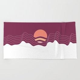 Sunrise in the Mountains Beach Towel