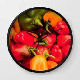 Kitchen Still Life: Hot Peppers Wall Clock