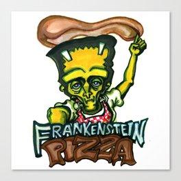 Frankenstein Pizza Canvas Print