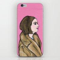 tenenbaum iPhone & iPod Skins featuring Margot Tenenbaum by Q Design