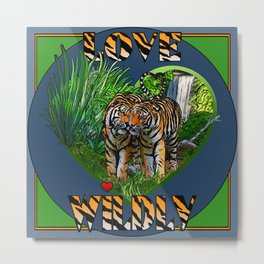 Love Wildly Metal Print