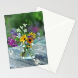 Wild Flower Jar Stationery Cards
