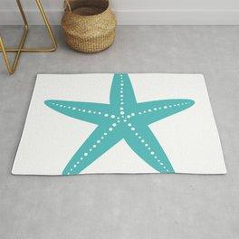 Starfish (Teal & White) Rug