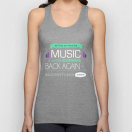 As long as there be music Unisex Tank Top