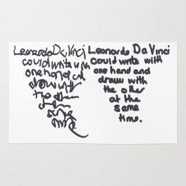 Leonardo Da Vinci Typography Rug