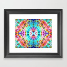 Rainbow Sunburst Framed Art Print