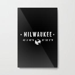 Milwaukee geographic coordinates Metal Print
