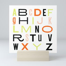 Eclectic Alphabet Mini Art Print