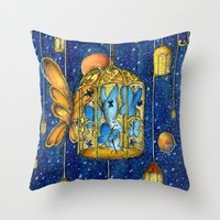 lanterns Throw Pillows featuring Lanterns by Anca Chelaru