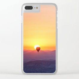 hot air balloon adventure #society6 #decor #buyart #homedecor Clear iPhone Case