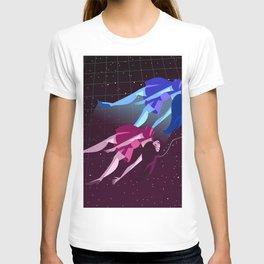 astral travel plane lady T-shirt