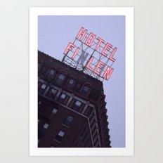 Finlen Hotel  Art Print
