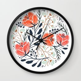 Lovely Flowers Wall Clock