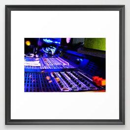 Sounds Blue Framed Art Print