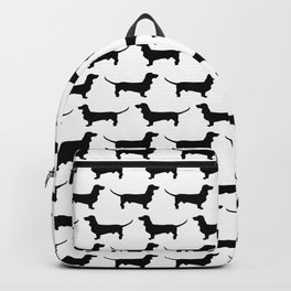 Dachshund Black and White Pattern Backpack