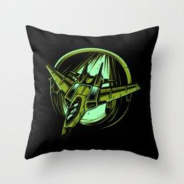 Fighter Jet Lover Gift Idea Design Motif Throw Pillow