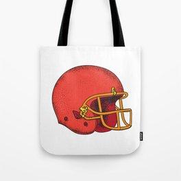 American Football Helmet  Tattoo Tote Bag