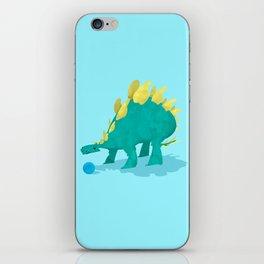 Stegosaurus and his Ball iPhone Skin