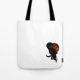 Red Moon Crane Tote Bag