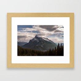 Mount Rundle Framed Art Print