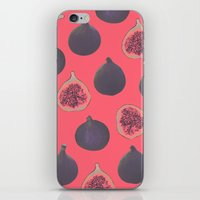 georgiana paraschiv iPhone & iPod Skins featuring Fig pattern by Georgiana Paraschiv