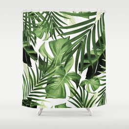 Tropical Jungle Leaves Pattern #12 #tropical #decor #art #society6 Shower Curtain