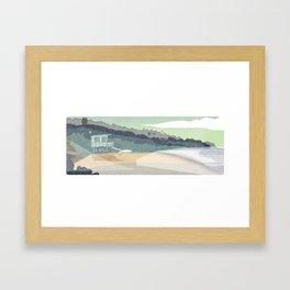 Lifegaurd Stand -e. e. kono Framed Art Print