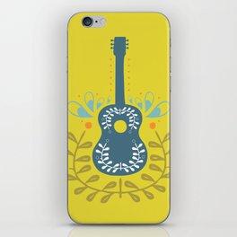 Fancy folk guitar iPhone Skin