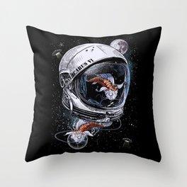 Fish Astronauts Throw Pillow