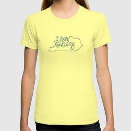 I Love Kentucky in Blue T-shirt