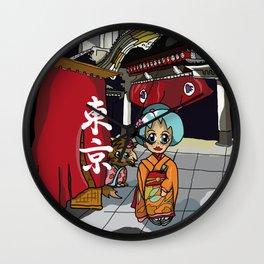 Kimono lady at the theatre in Ginza Tokyo Wall Clock