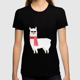 Cute & Adorable Llama With Cool Sunglasses T-shirt