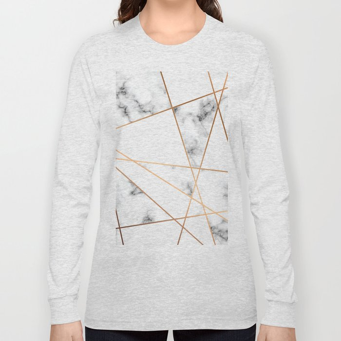 Marble Geometry 054 Long Sleeve T-shirt