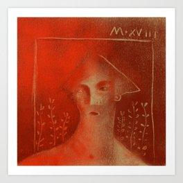 Winters Hymn: Part 129, Digital Drawing Hymn: Part 119, Digital Drawing Art Print