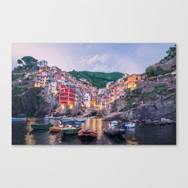 An Evening In Cinque Terre - Riomaggiore Canvas Print