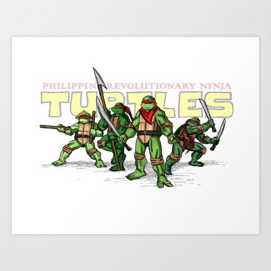 Philippine Revolutionary Ninja Turtles Art Print