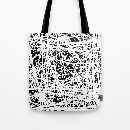 Whispers In the Dark - Black and White Abstract Tote Bag