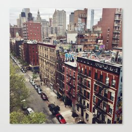 New York street views - Chinatown from Manhattan bridge Canvas Print