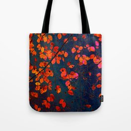 furious red leaves Tote Bag