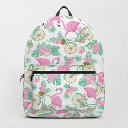 Tropical Bike Pattern Backpack