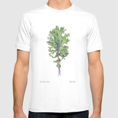 Red Russian Kale Mens Fitted Tee White MEDIUM
