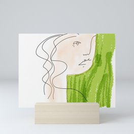 She Never Saw Herself as Others Did Mini Art Print