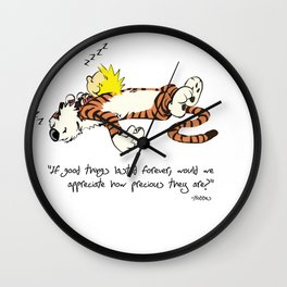 Calvin And Hobbes Quote Wall Clock