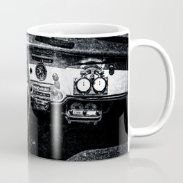 Interior Of A Luxury Car Black White Coffee Mug