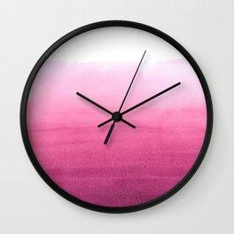 Dip dye in magenta Wall Clock