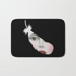 Black Swan- Print Version Bath Mat