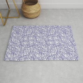 Abstract Blue Cross Rug